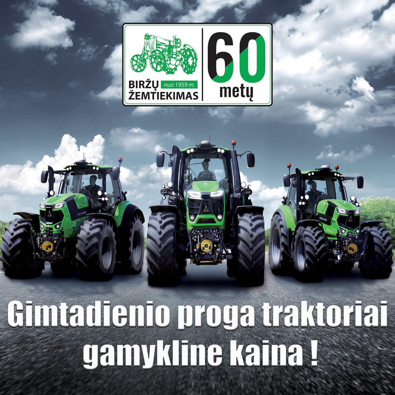 Traktoriai gamykline kaina!