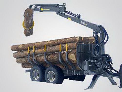 JUNKKARI SUOMIŠKOS medienos vežimo priekabos