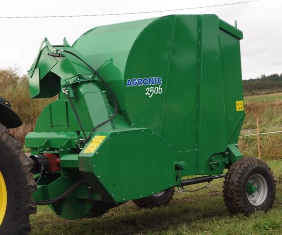Savikrovis prikabinamas ritinių smulkintuvas AGRONIC 250 TS