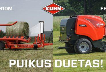 Kuhn FB3130 ir RW1610 – puikus duetas!
